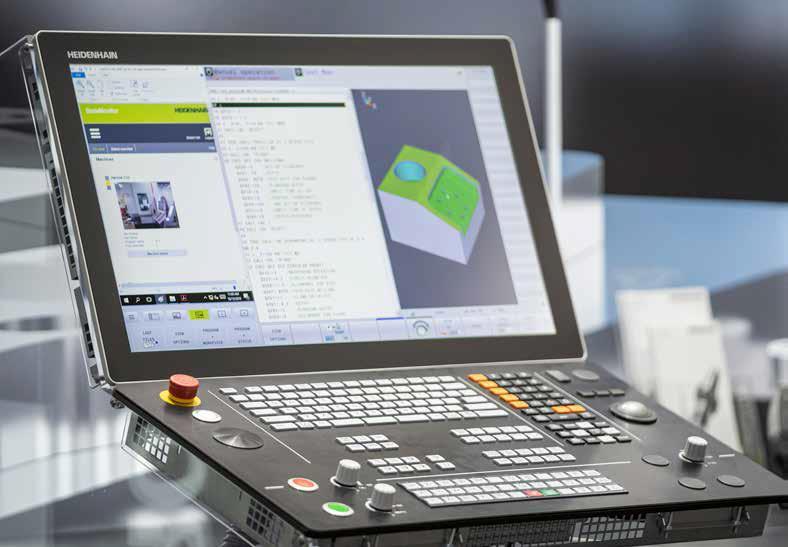 Устройство ввода информации TNC640 HEIDENHAIN. Обновленный монитор ЧПУ TNC 640 с 24- дюймовым широкоэкранным, расширенным компактным рабочим пространством с гладким черным дизайном.